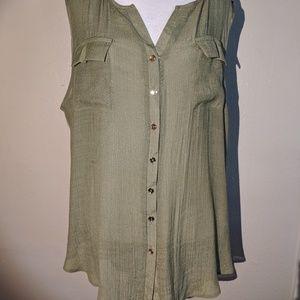1X PerSeption Women's Sage Dress Tank Top